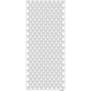 Stars White - Papicolor Peel Off Gem Stickers 100X255mm