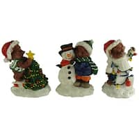 "Club Pack of 72 Christmas Bear Table Top Figures 3.5"" - multi"