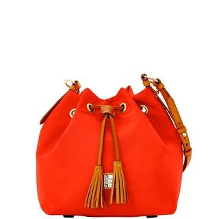 Dooney & Bourke Windham Small Kade Drawstring (Introduced by Dooney & Bourke at $198 in Jan 2016) - Red|https://ak1.ostkcdn.com/images/products/is/images/direct/d50a72551af1bc35dad8c1556d4b913d01c593a4/Dooney-%26-Bourke-Windham-Small-Kade-Drawstring.jpg?impolicy=medium