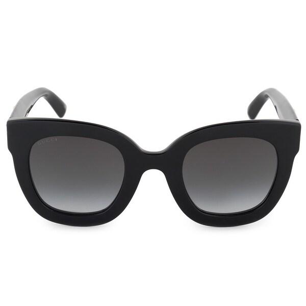 3b270f9c2d8 Shop Gucci Gucci Cat Eye Sunglasses GG0208S 001 49 - Free Shipping ...