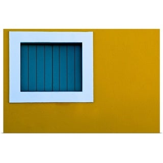 """Window on yellow wall."" Poster Print"