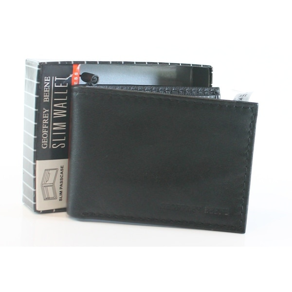 48406e8a3dbd Shop Geoffrey Beene NEW Black Mirage Slim Passcase Bifold Leather Men's  Wallet 363 - Free Shipping On Orders Over $45 - Overstock - 20363268