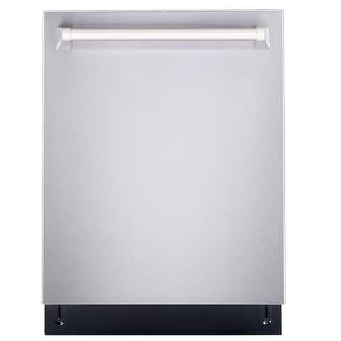 Cosmo 24 in. Top Control Built-In Tall Tub Dishwasher in Fingerprint Resistant Stainless Steel, 45 dBA