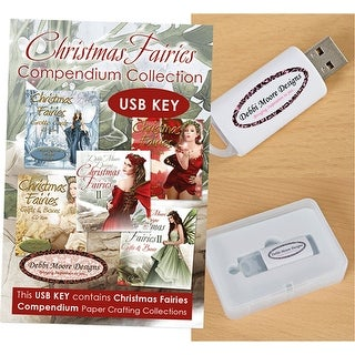 Debbi Moore Usb Key Compendium Paper Craft Collection-Christmas Fairies Vol. 1