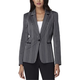 Link to Tahari Womens Notched Collar One Button Blazer Jacket, Grey, 2 Similar Items in Suits & Suit Separates