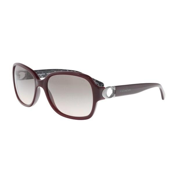 8af1100a4ac60 france coach hc8241 55203b oxblood rectangle sunglasses 57 17 140 4851b  ba9c5