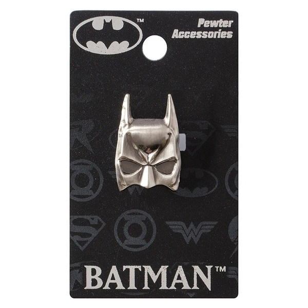 DC Comics Pewter Lapel Pin Batman Mask - multi