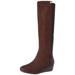 J. Renee Womens Valik Winter Boots Microsuede Knee-High