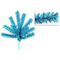 Sparkling Sky Blue Christmas Craft Pick 7""