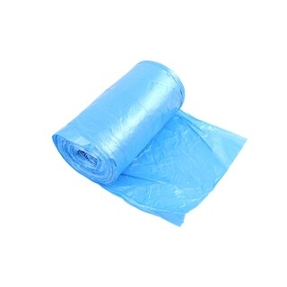 Unique Bargains Blue Home Restaurants Garbage Trash Waste Bag Roll