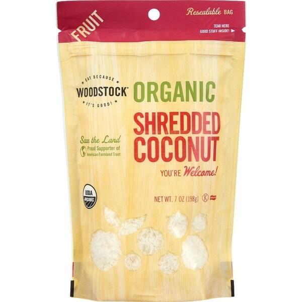 Woodstock Organic Shredded Coconut - Case of 8 - 4 oz.