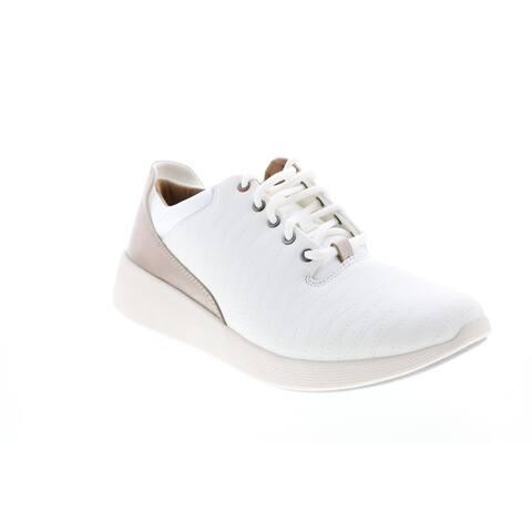 Clarks Un Alfresco Lo White Womens Lifestyle Sneakers