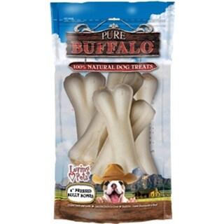 "Pure Buffalo 4"" Pressed Bully Bone Dog Treat 5/Pkg-"