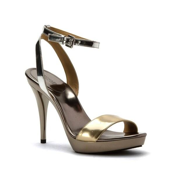 MICHAEL Michael Kors Catarina Platform Sandals Pale Gold/Silver Mirror Metallic - 10 b(m)