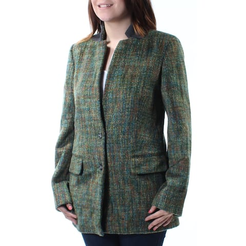 RACHEL ROY $189 Womens New 1658 Green Pocketed Peacoat Casual Coat 6 B+B