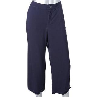 Tommy Hilfiger Womens Wide Leg Pants Crop Drapey