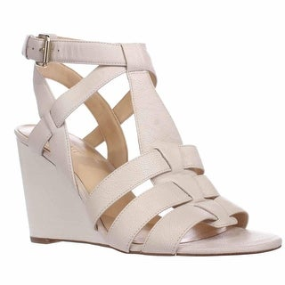 Nine West Farfalla Strapped Wedge Sandals, Off White