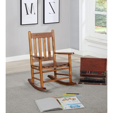 Slat Back Wooden Youth Rocking Chair