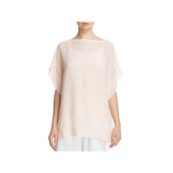 4353fe19acb27 Shop Eileen Fisher Womens Tunic Top Silk Dressy - Free Shipping ...