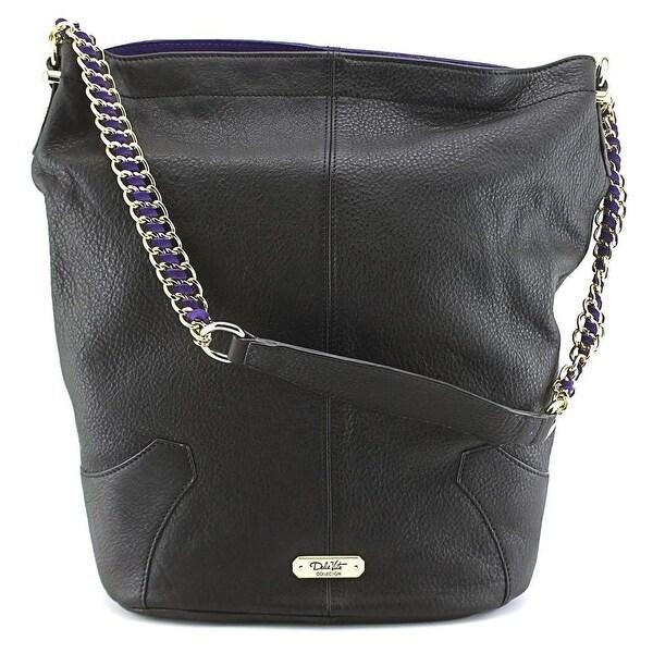 Dolce Vita Pebbled Hobo Women Leather Hobo - Black