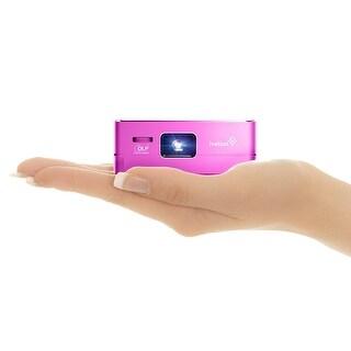 Ivation Pro3 Portable Rechargeable DLP Projector - Purple