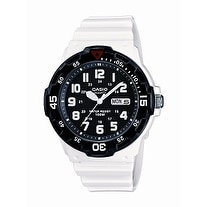 Casio Mens White Resin Dive Watch