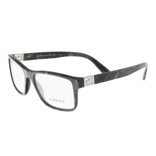 Shop Versace VE3211 5145 Grey Marble Rectangle Optical Frames - 55 ...