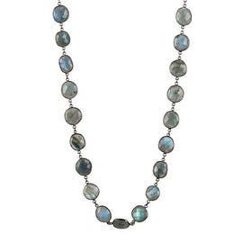 Oxidized Sterling Silver Labradorite Bazel Chain|https://ak1.ostkcdn.com/images/products/is/images/direct/d51827d28874c33195a4b935ae17af8e2a8dce5a/Oxidized-Sterling-Silver-Labradorite-Bazel-Chain.jpg?impolicy=medium