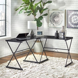 Simple Living Janae Glass Corner Desk