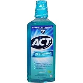 ACT Restoring Anticavity Fluoride Mouthwash Cool Splash Spearmint 18 oz