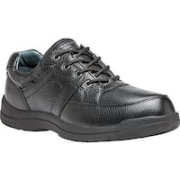 Propet Men's Four Points II Oxford Black Full Grain Leather