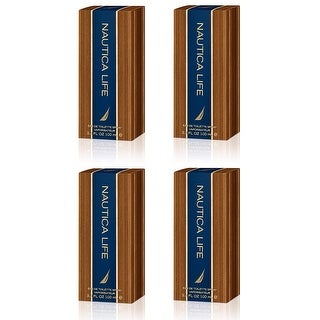 Nautica Life, Eau De Toilette Spray, 3.3 Oz (4 Pack)