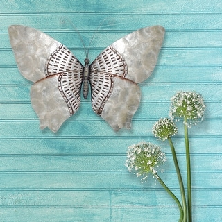 Link to Butterfly Wall Decor Silver With Rust Dashes - 1 x 18 x 13 Similar Items in Decorative Accessories