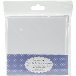 "White - Dovecraft Cards W/Envelopes 6""X6"" 10/Pkg"