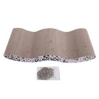 Cool Wave-style Harden Corrugated Pet Cat Toy Cat Claw-grinding Plate with Catnip