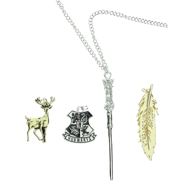 Harry Potter Hogwarts Spells/Wand Multi Charm Necklace