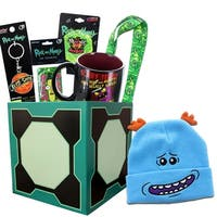 Rick and Morty Gift Box with Embroidered Beanie, Exclusive Pin & More - multi