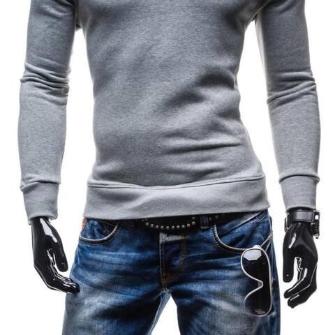 New Men's Fashion Sports Hoodies Sweater Crewneck Sweatshirts - Grey
