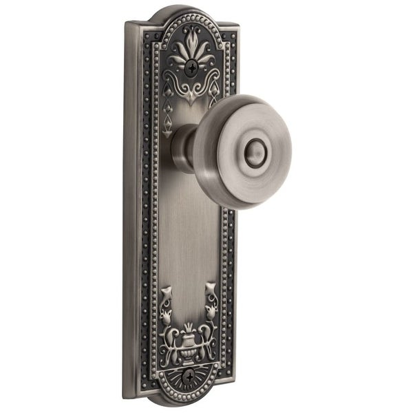 Grandeur PARBOU_DD_NA Parthenon Solid Brass Rose Dummy Door Knob Set with Bouton Knob