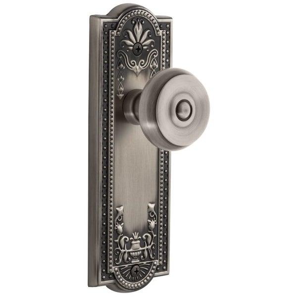 "Grandeur PARBOU_PSG_238 Parthenon Solid Brass Rose Passage Door Knob Set with Bouton Knob and 2-3/8"" Backset"