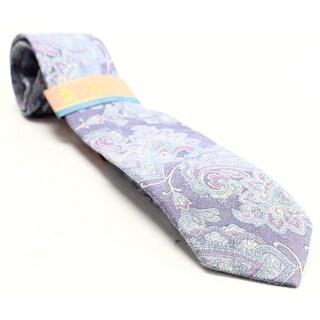 PENGUIN NEW Purple Floral Audrey Paisley Mens Slim Wool Blend Necktie