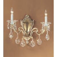 """Classic Lighting 57102-BBK 14"""" Crystal Wallchiere from the Via Firenze Collection"""