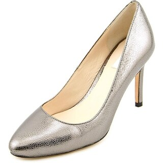 Cole Haan Bethany Pump 85 Women Round Toe Leather Silver Heels