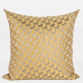 """G Home Collection Luxury Yellow Arrows Pattern Jacquard Pillow 20""""X20"""""""