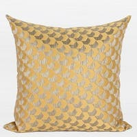 "G Home Collection Luxury Yellow Arrows Pattern Jacquard Pillow 20""X20"""