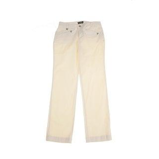 Lauren Ralph Lauren Cream Stretch-Twill Ankle Pants 2