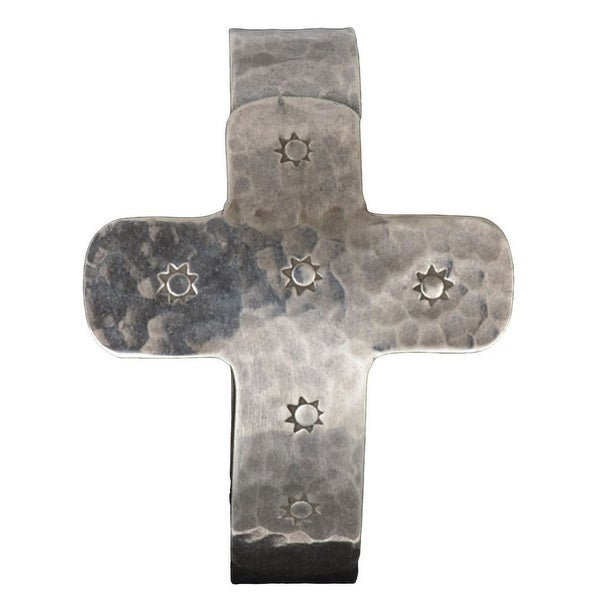 Angel Ranch Jewelry Womens Bracelet Cuff Cross Suns Silver LB6006