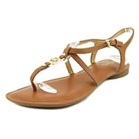 MICHAEL Michael Kors Womens Bethany Leather Split Toe Casual Slingback Sandals