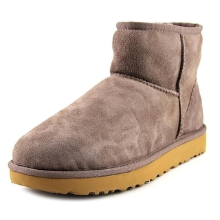 Ugg Australia Classic Mini II Women  Round Toe Leather Gray Winter Boot