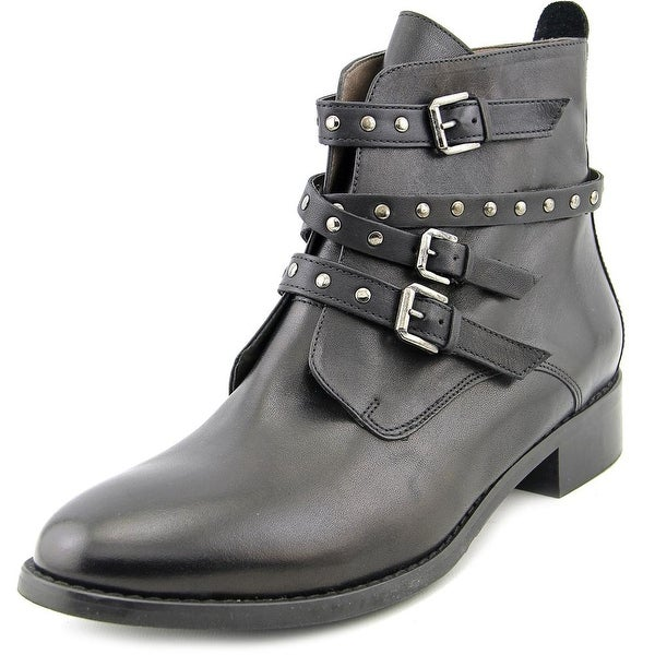 Bella Vita Mod-Italy Women W Round Toe Leather Black Ankle Boot